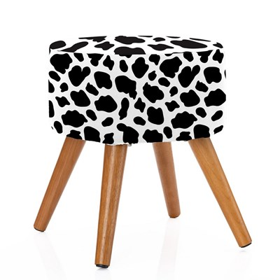 Puff Banqueta Com Capa Removível Estampa Animal Print